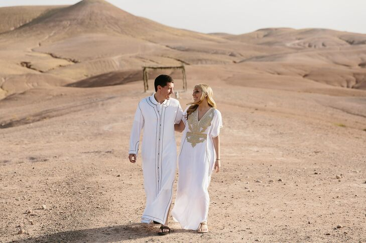 """Since Lauren and Jacques took their first vacation together to Morocco, the pair decided to return to the North African country for their destination nuptials. """"We knew it was the perfect destination to begin our biggest adventure together: marriage,"""" Lauren says."""