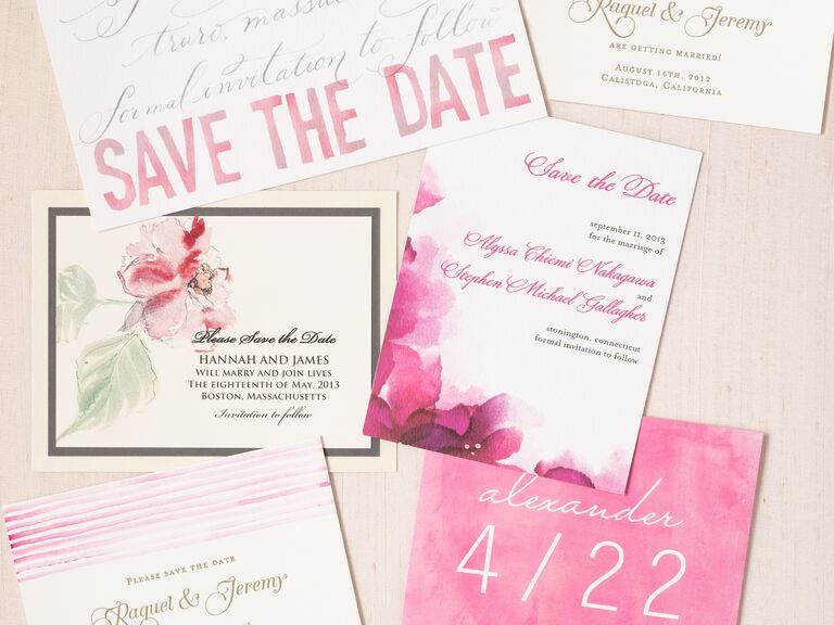 Charmant Pink And White Save The Date Design Ideas