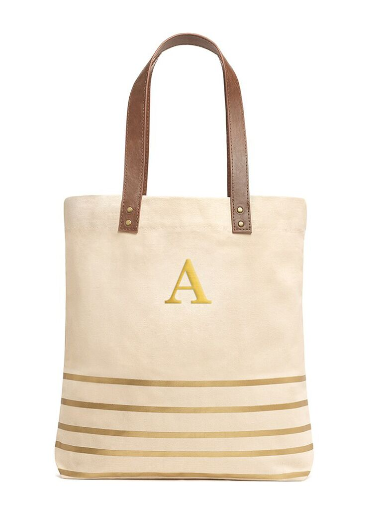 Monogram tote bag gift for sister-in-law