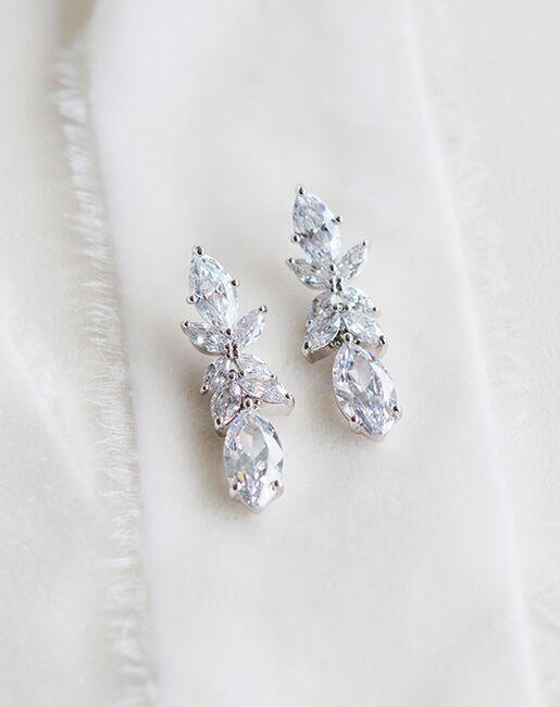 Dareth Colburn Emile Floral Drop Earrings (JE-4195) Wedding Earrings photo