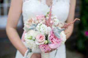 Romantic Pink Rose Bridal Bouquet
