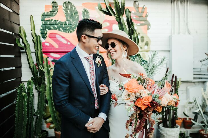 Wedding Day Portraits at Fancy Free Nursery in Tampa, Florida