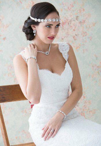 MEG Jewelry Moonstar headband Wedding Necklaces photo