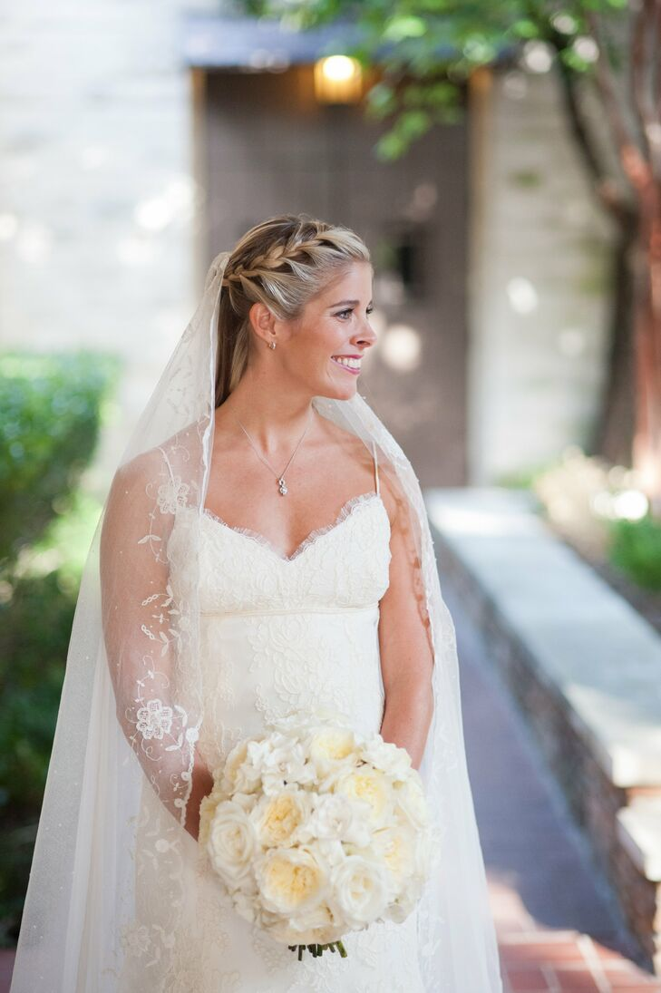 Amsale Lace Wedding Gown