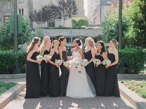 Black Formal Floor-Length Bridesmaid Dresses