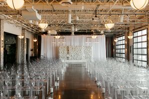 All-White Decor for Wedding at Cherry Hall in Kansas City, Missouri