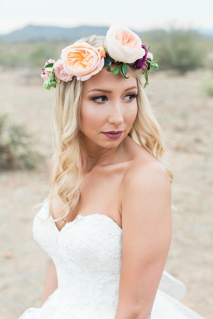 Oversize Blush Garden Rose Flower Crown