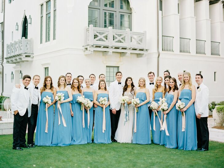 Wedding Party in Alys Beach, Florida