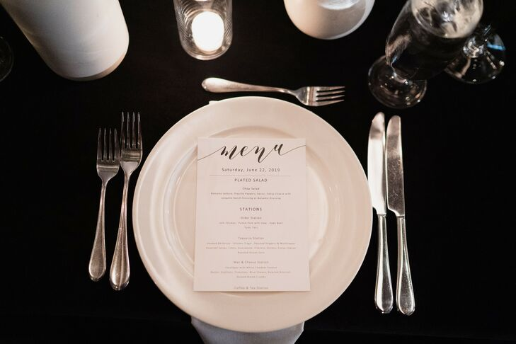 Simple Place Setting at the Hotel Van Zandt in Austin, Texas