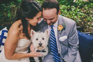 Wedding Portrait With Pet