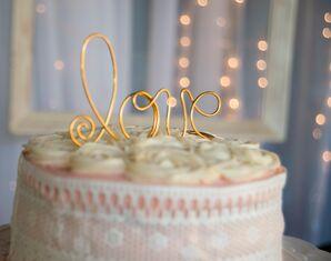 Gold-Wire 'Love' Cake Topper