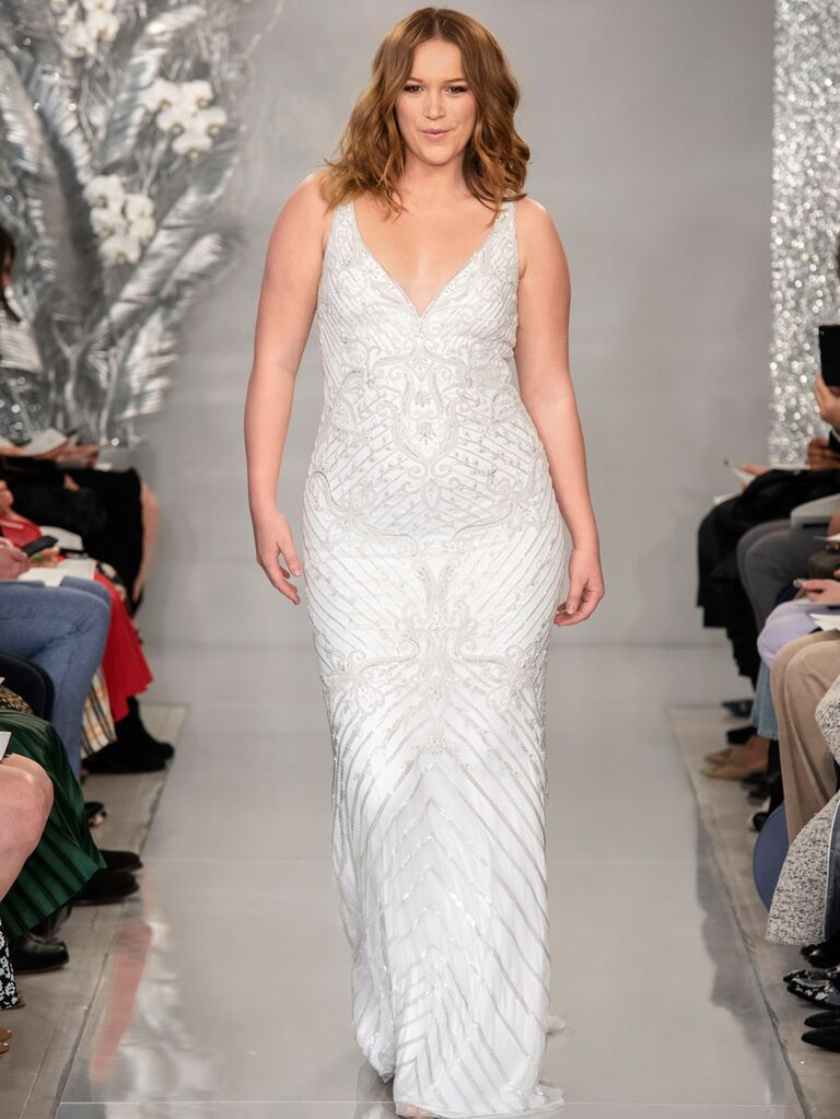 Theia Spring 2020 Bridal Collection embroidered wedding dress