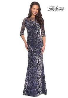 La Femme Evening 25521 Gray Mother Of The Bride Dress