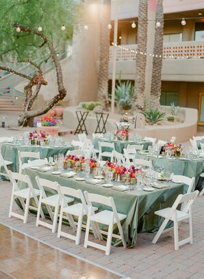 A Mix of Neutrals and Bold Hues at the Reception