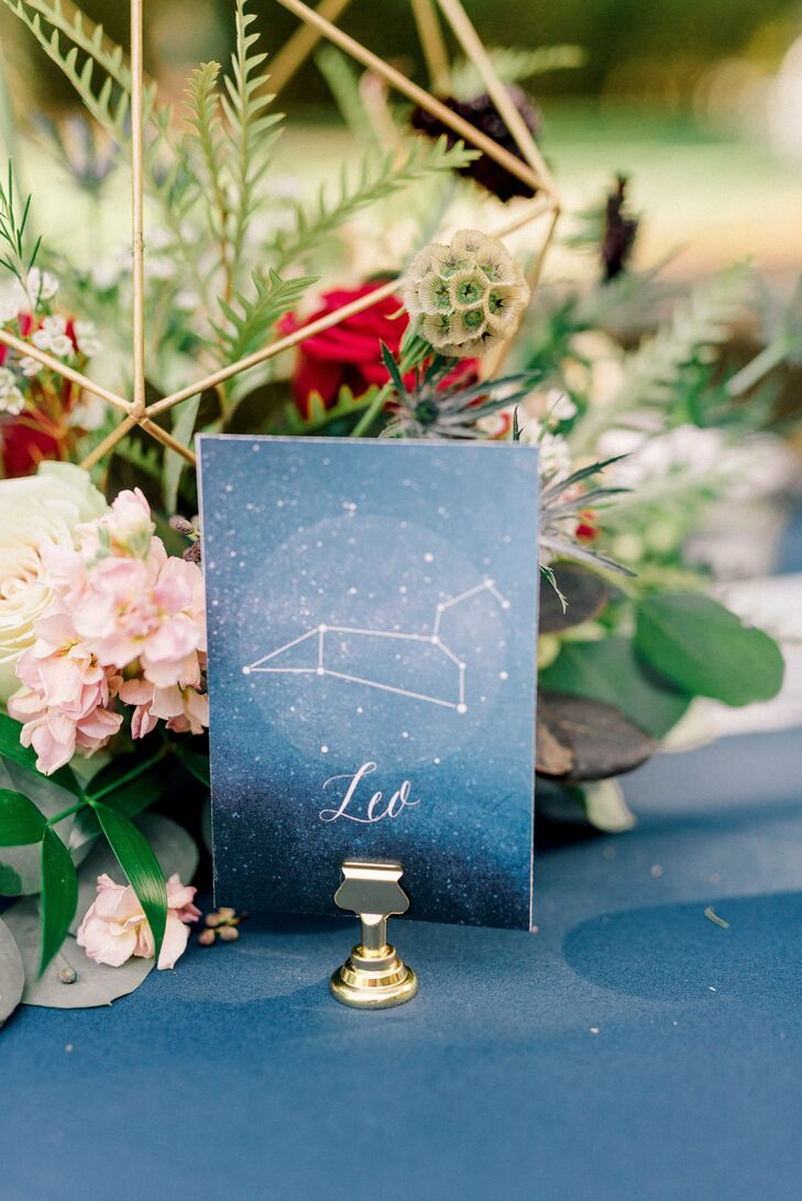 Flower Centerpieces and Constellation Table Names