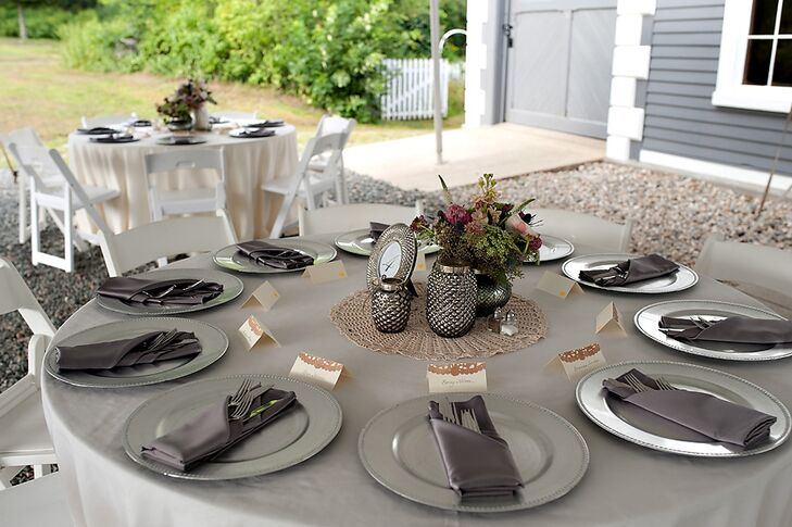 Gray Flatware and Tablecloths