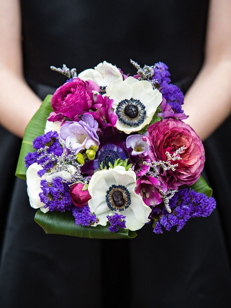 pink and purple wedding bouquet
