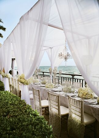 Reception cabana | Chris Joriann Photography | Blog.theknot.com