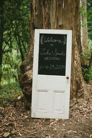 Chalkboard Door Welcome Sign