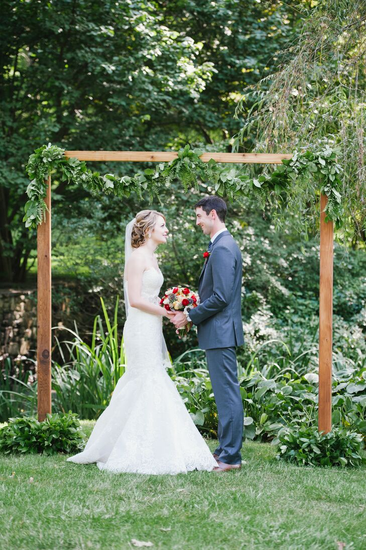 Bride and Groom At Outdoor Altar
