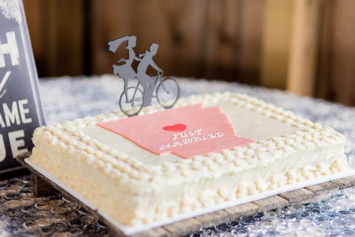 Bride and Groom Bicycle Cake Topper
