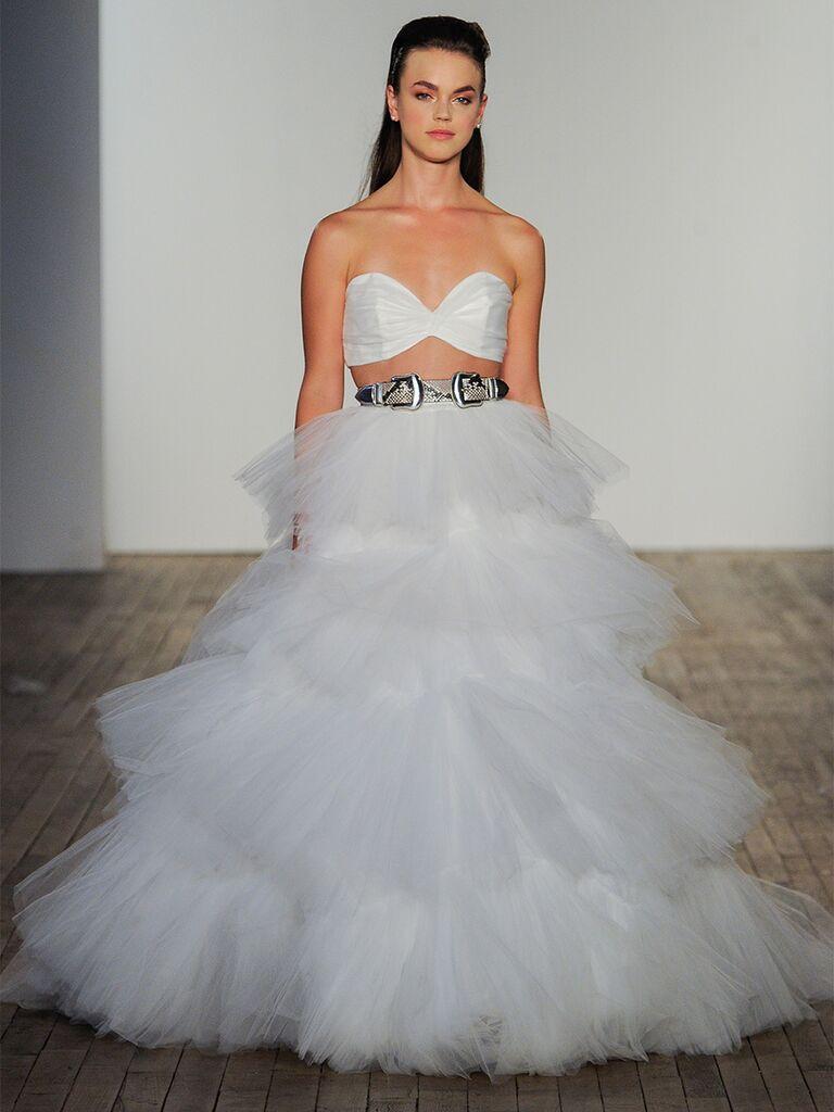 Hayley Paige wedding dress two-piece set