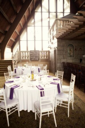 The Abbey Resort White and Purple Reception