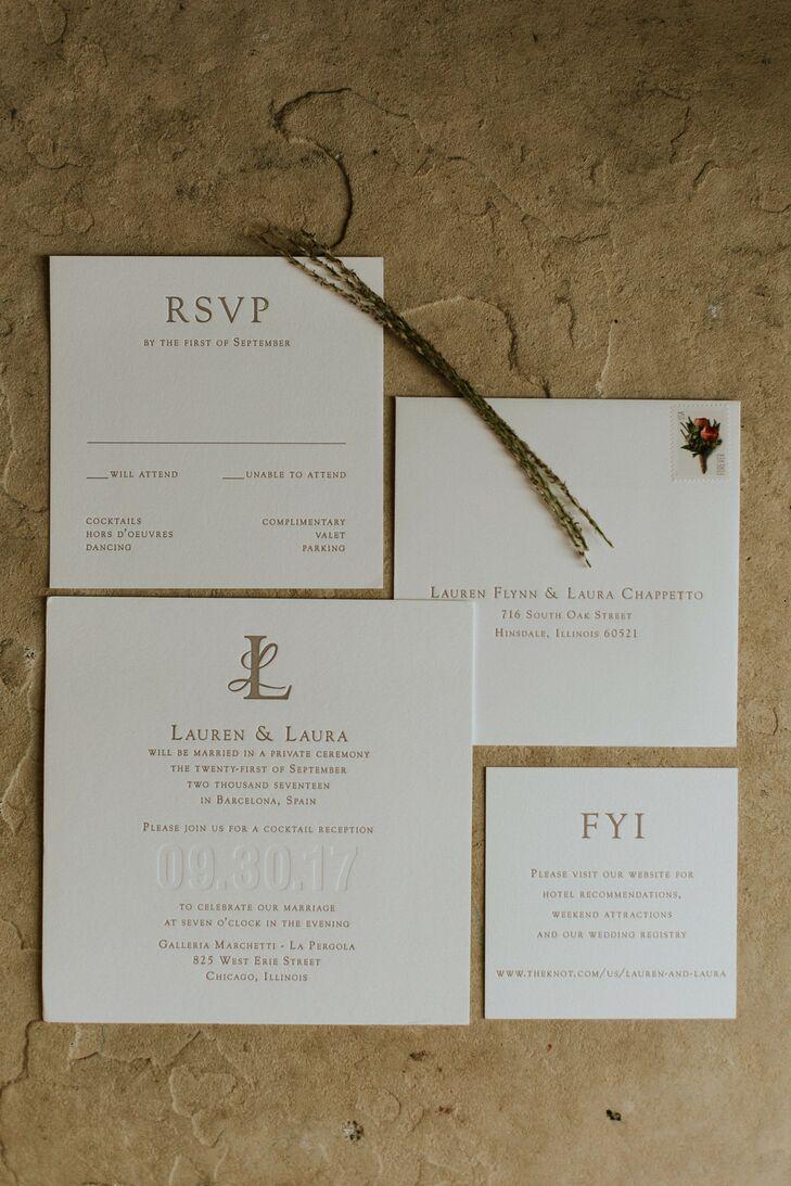 Elegant, Classic Invitation Suite