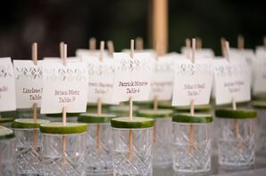 Vintage Etched-Glass Escort Cards