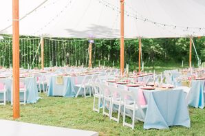 Tented Backyard Wedding with Ombre Linens