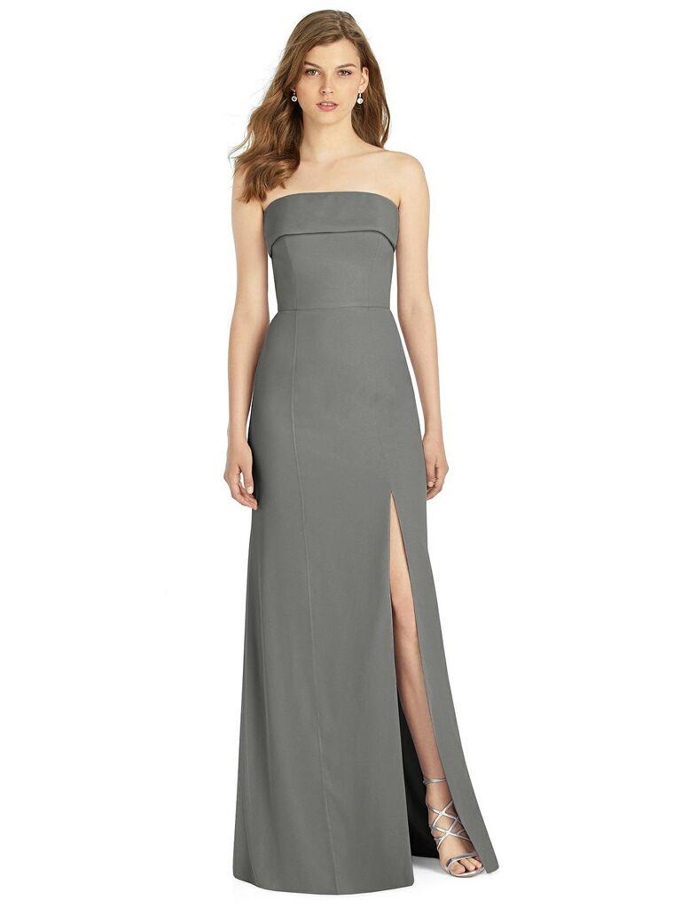 Dark gray bridesmaid dress