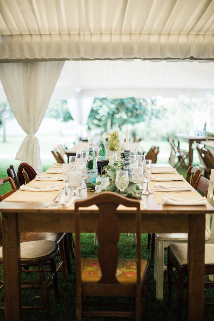 Vintage Farm Table and Mismatched Chairs
