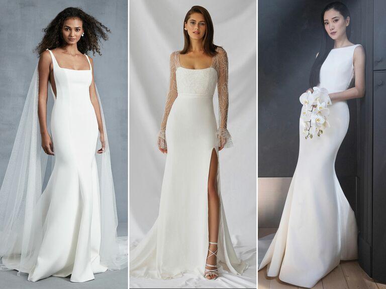 crepe wedding dresses