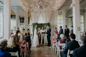 Romantic Ceremony at the Metropolitan Building in Long Island City, New York