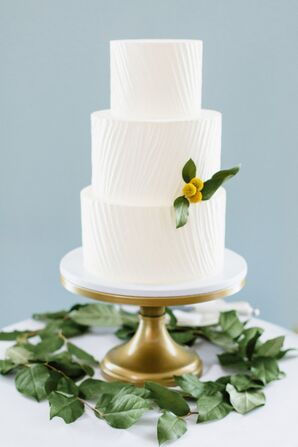 Simple, Elegant White Wedding Cake