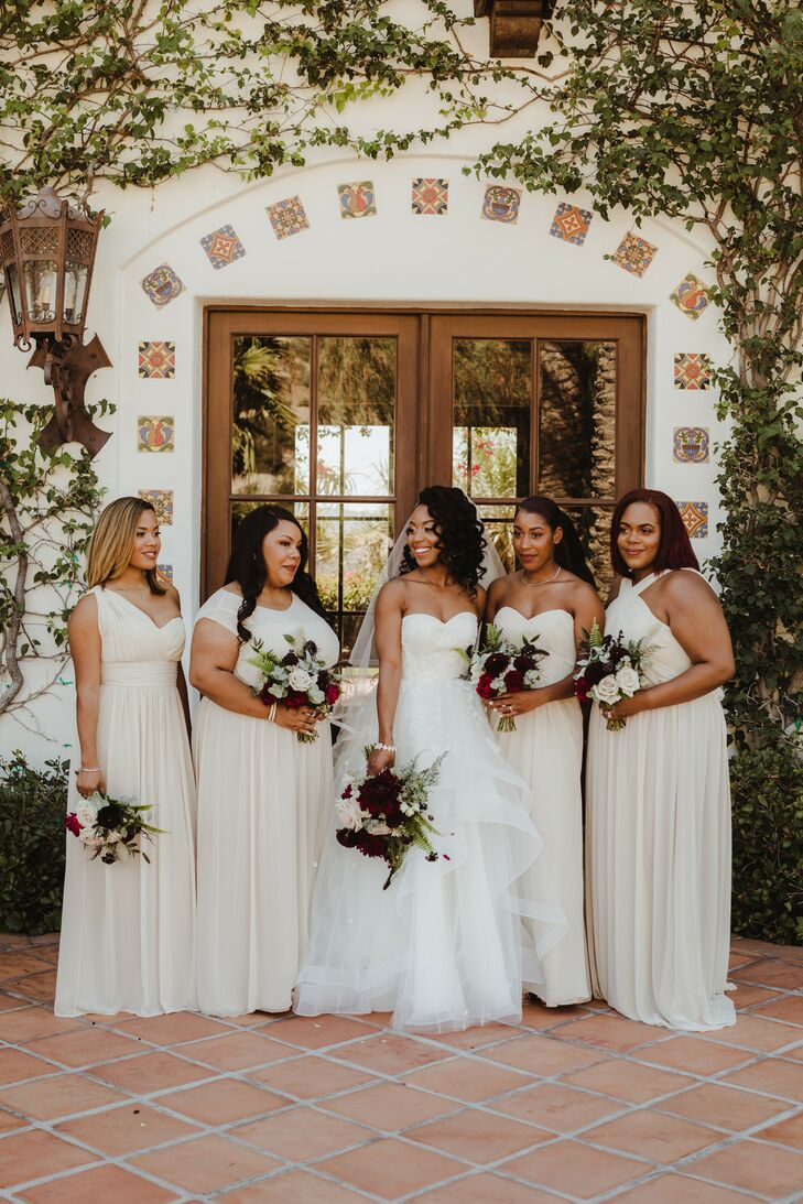 Bride and Bridesmaids with Ivory Gowns