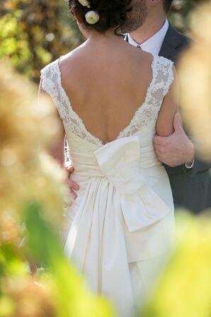 Paloma Blanca Sheath Lace Wedding Dress