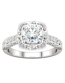 ever&ever Vintage Princess, Asscher, Cushion, Emerald, Round, Oval Cut Engagement Ring