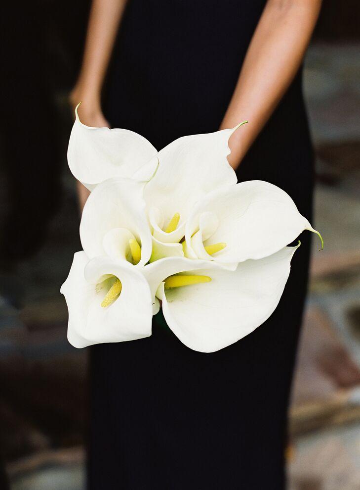 Chic White Calla Lily Bouquet