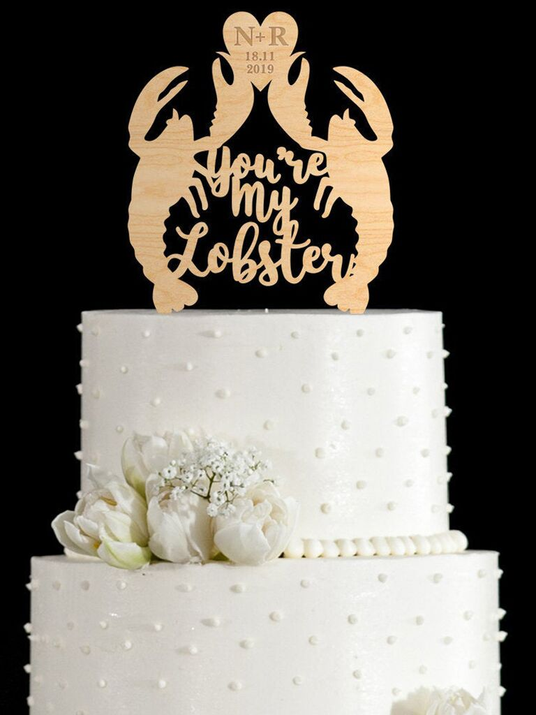 You're My Lobster unique wedding cake topper