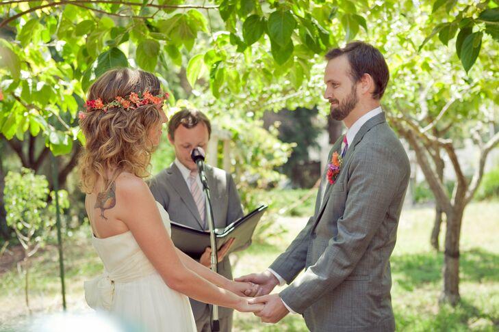 Backyard Garden Ceremony