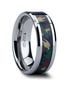 Mens Tungsten Wedding Bands W836-TCJC Tungsten Wedding Ring