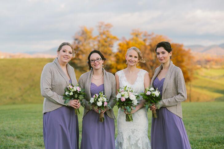 Lilac Bill Levkoff Bridesmaid Dresses