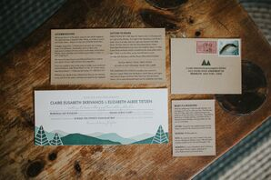 Rustic Mountain-Themed Invitations