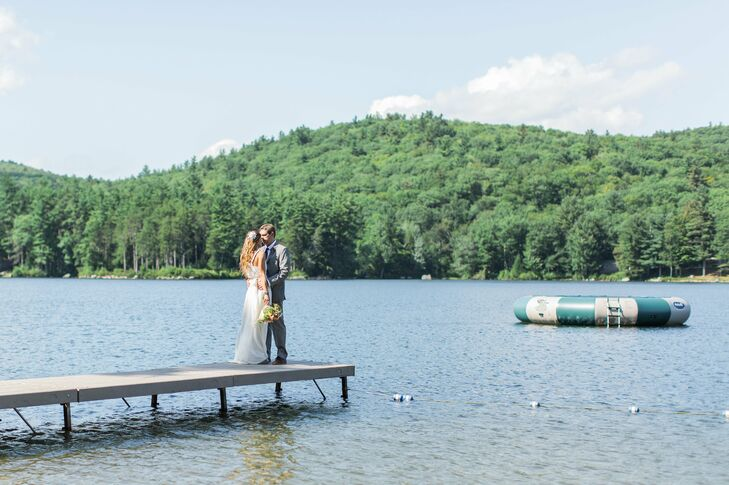 Chrissy Morell and Mike Carter kept things close to home for their wedding, hosting their intimate celebration at Camp Birch Hill, which Chrissy owns