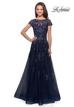 La Femme Evening 26907 Blue Mother Of The Bride Dress