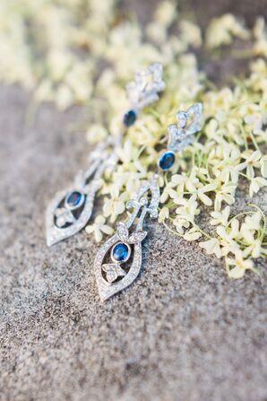 Borrowed Blue Sapphire Statement Earrings