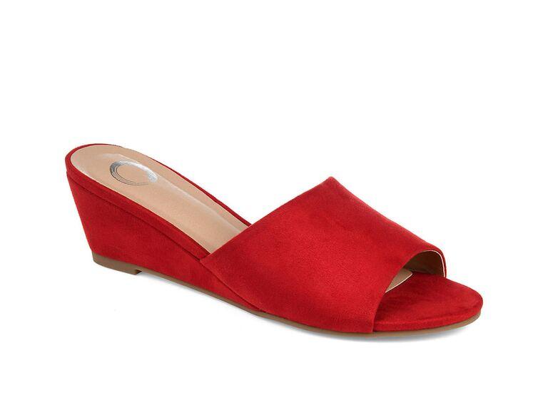 Journee Collection Pavan wedge sandal in Red
