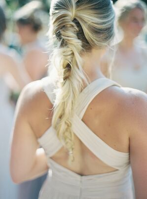 Bohemian Fishtail Bridesmaid Updo