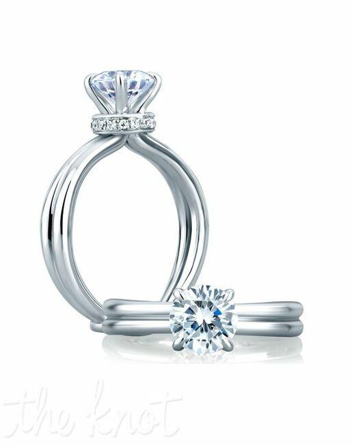 A.JAFFE Cut Engagement Ring